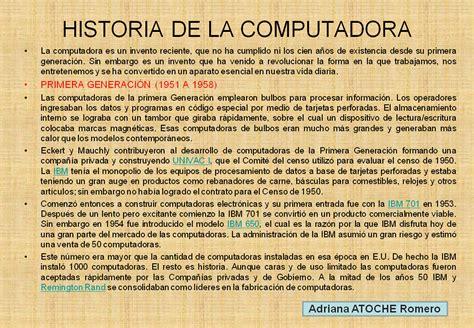 la biografa de historia del computador diapositivas historia del computador
