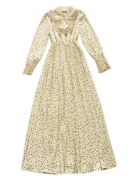 Best Quality Talullah Color Maxi Shirt Dress Belt Not Included All hight quality professionals beige polka dot sleeves