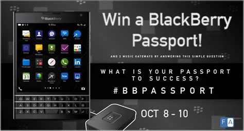 Blackberry Giveaway - blackberry passport giveaway contest