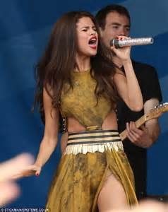 selena gomez exposes flesh coloured in a