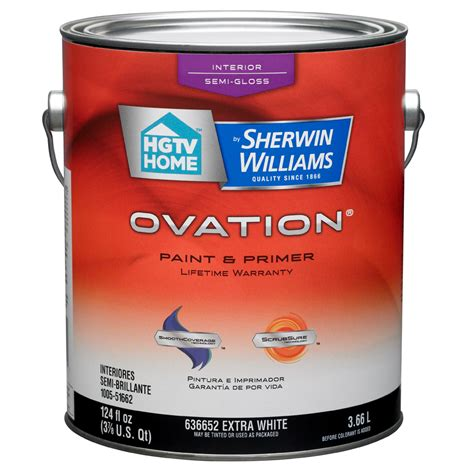 upholstery paint lowes shop hgtv home by sherwin williams ovation white semi
