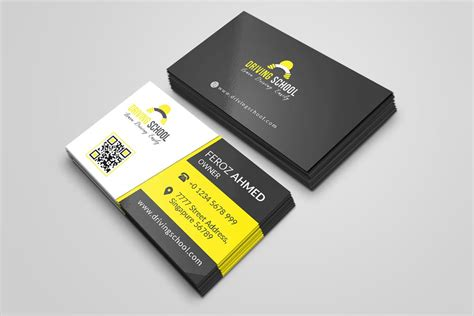 School Driver Business Card Template by Free Driving School Business Card Psd Template Creativetacos