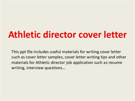 Athletic Resume Sample by Sample Athletic Director Cover Letter Gse Bookbinder Co