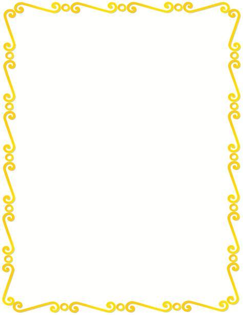 yellow spirals border page frames spiral border yellow