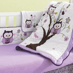 purple owl crib bedding 1000 images about chambres b 233 b 233 on pinterest bebe crib sets and black silhouette