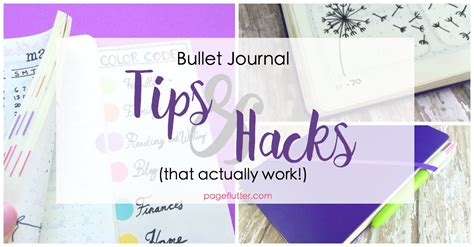 journal hacks bullet journal hacks that actually work page flutter