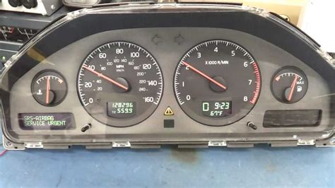 how cars run 2003 volvo xc90 instrument cluster volvo instrument cluster youtube