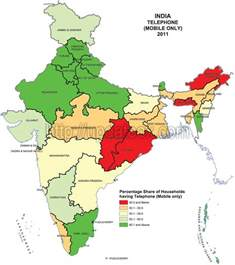 us map state wise state wise mobile phone users in india census 2011