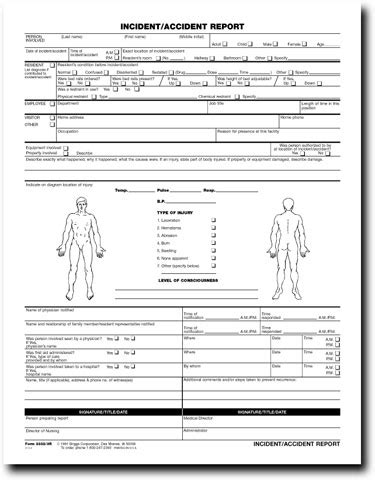 image gallery incident report form
