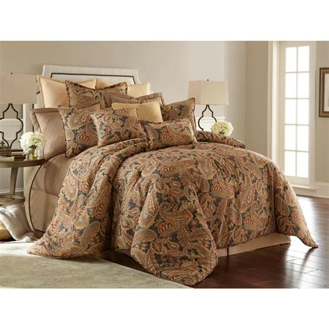 paisley comforter sets king brooklyn loom sand washed cotton king comforter set in