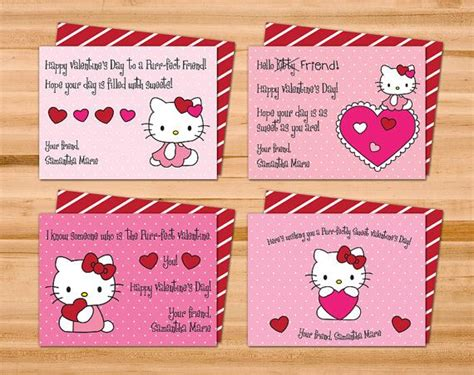 hello valentines day cards printable hello cards four 4 by