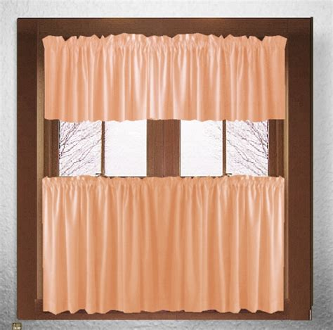 apricot colored curtains peach orange apricot kitchen cafe curtains
