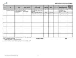 continuous service improvement plan template continuous process improvement plan template pictures to