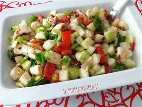 cetriolo di mare cucina insalata di polpo ricetta insalata di polpo cetriolo e mela
