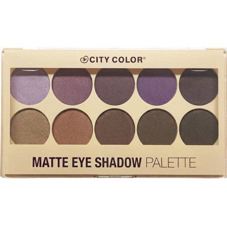 city color eyeshadow city color matte eyeshadow palette walmart