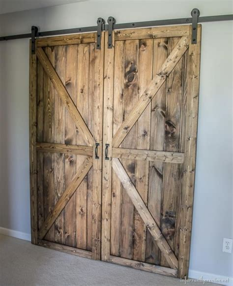 Learn How To Make A Pair Of Rustic Barn Doors Interior Barn Door Diy