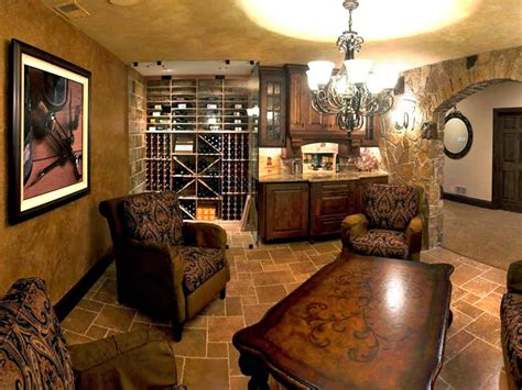 world inspired basement wine cellar and tasting room