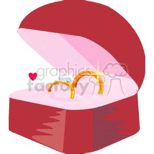 wedding rings in a ring box clipart royalty free clipart 146176