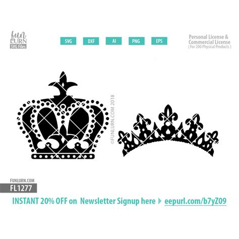 king queen crowns svg funlurn svg