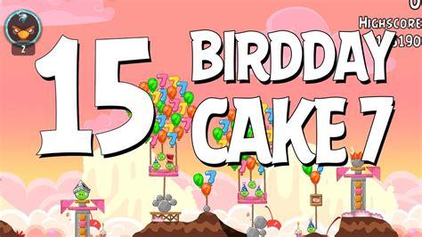 angry birds birdday 18 8 walkthrough 3 birthday angry birds birthday cake 15