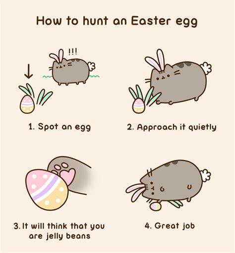 Easter Egg Meme - pusheen easter egg hunt funny animals for kids