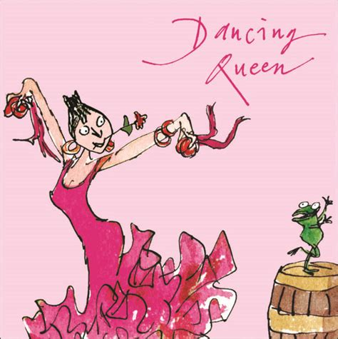 Happy Birthday Wishes For A Dancer Quentin Blake Dancing Queen Happy Birthday Greeting Card