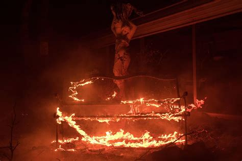 burning benches quot wall fire quot burning through a residential area in