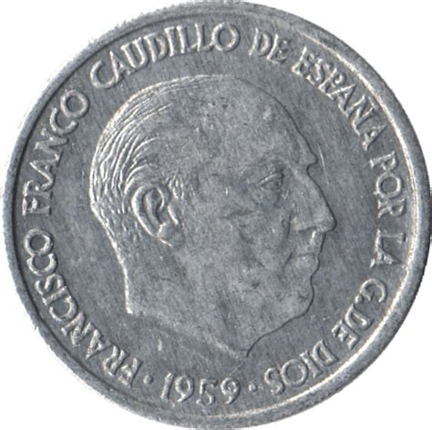 franco caudillo de espana 10 centimos francisco franco spain numista