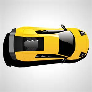 Lamborghini Top Cars Vector For Free Use Lamborghini Car Top View