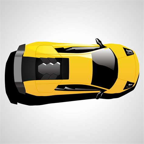 pixel car top vector for free use lamborghini car top view