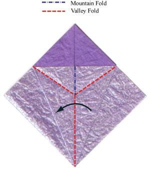 Valley Fold Origami - how to make an origami phlox flower page 4