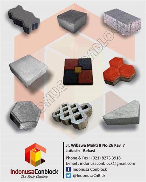G Ci Pasir Segi indonusa conblock paving block u ditch box culvert