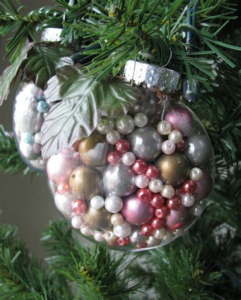 clear christmas ornaments ideas  pinterest