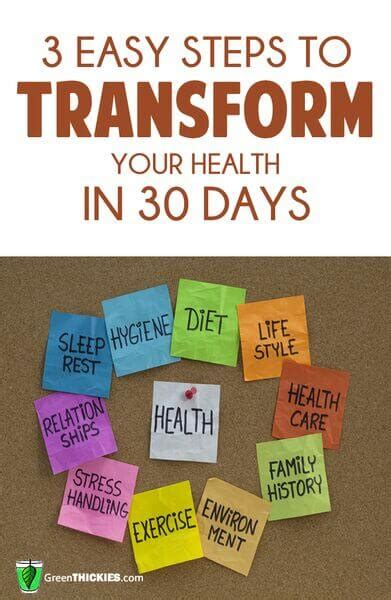 30 days to better health the easy peasy way a guide to creating health processes getting results and transforming your in 30 days books 3 easy steps to transform your health in 30 days