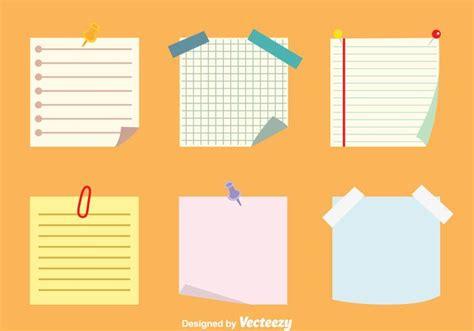 Sticky Note Set sticky notes vectors set free vector stock