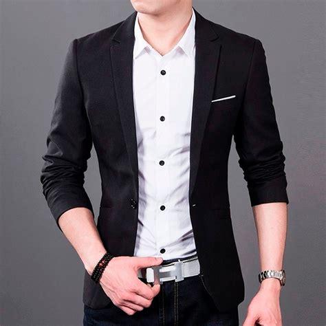 Andy Gold Kemeja Pria Lengan Panjang Kemeja Formal Pria blazer masculino slim fit importado varias cores r 99