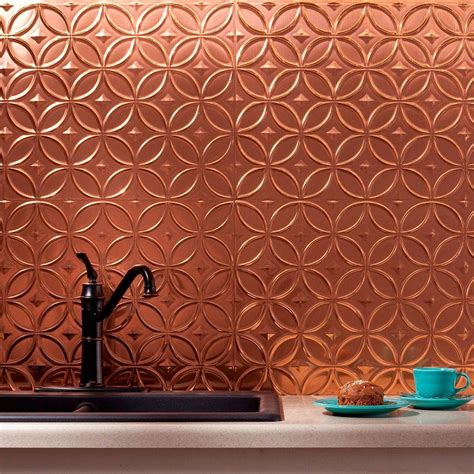 Fasade 24 In X 18 In Rings Pvc Decorative Backsplash Pvc Backsplash Panel