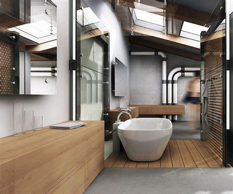 Salle De Bain Style Industriel by Rev 234 Tements Et Meubles Salle De Bain Bois Massif Et