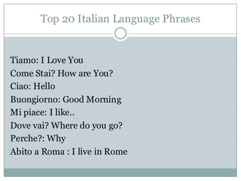 best italian language top 20 italian language phrases