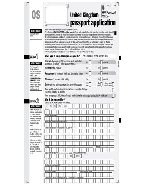 section 4 of passport application united kingdom passport application free download