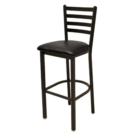 bar stools restaurant supply oak street sl1301 economy bar stool w metal ladder back