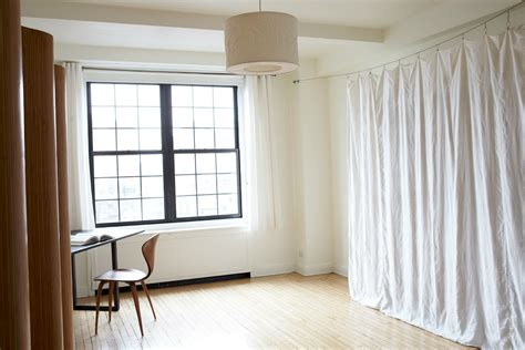 room partition curtain easy diy room divider to create a multipurpose room