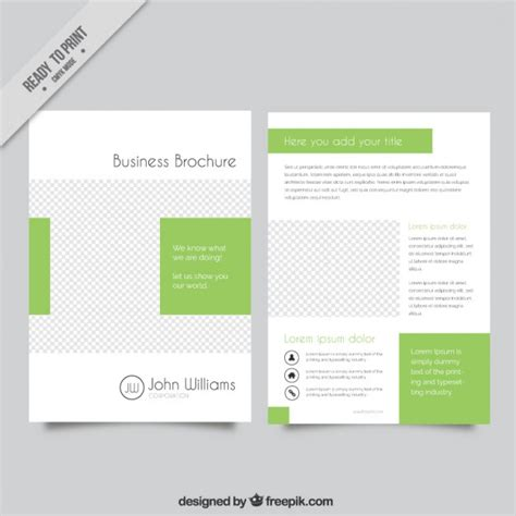 corporate brochure template free business brochure template vector free