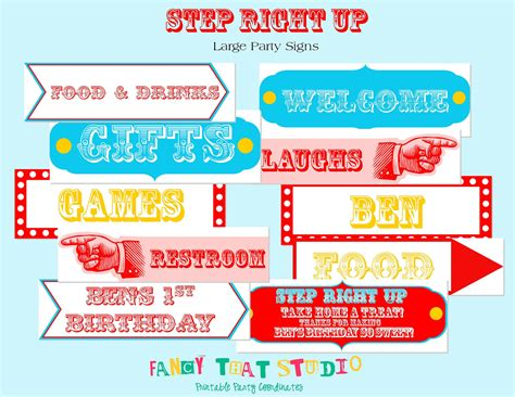 6 best images of free printable circus carnival signs
