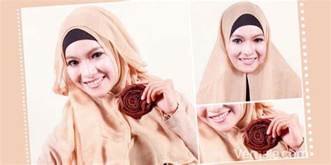 tutorial berhijab jilbab paris kreasi cara memakai jilbab paris sederhana