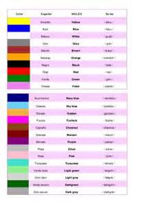 color en ingles colores en espanol e ingles images