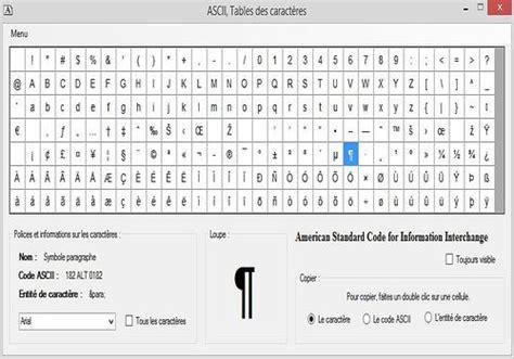 t 233 l 233 charger ascii table des caract 232 res 3 0 0 0 pour