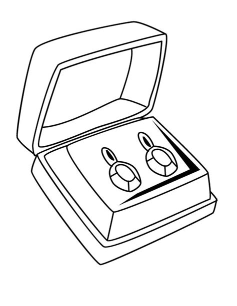pair of diamond earrings jewelry coloring page coloring sky