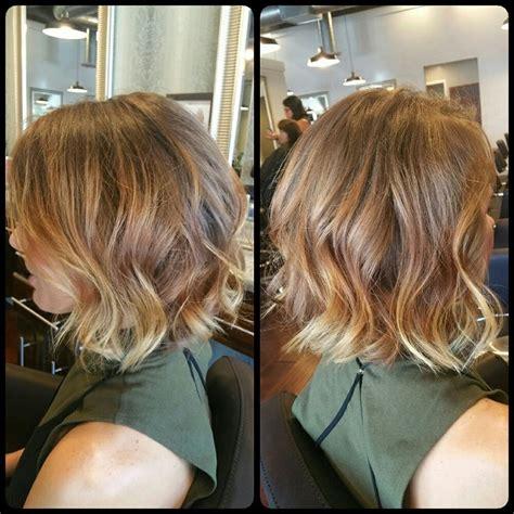 blunt bob haircut  balayage highlights yelp bob