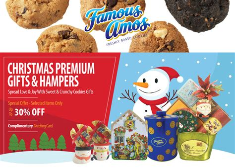 famous amos christmas premium gift her promotion